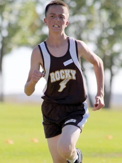 Burlington eighth-grader Howard McNiver runs during a recent meet. McNiven won the conference championship.