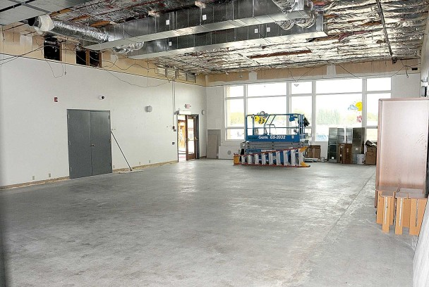(David Peck photo) The HVAC project is well under way at the senior center, as this photo of the main room shows. Director Julie Durham hopes the project can be completed by Thanksgiving.