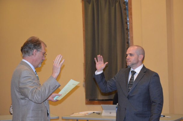Barbara Anne Greene: Basin Town attorney Kent Richins swears in Kyle McClure as the new chief of police.