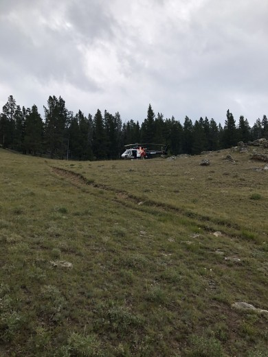 Courtesy photo The Guardian Medical helicopter at Meadow Creek.