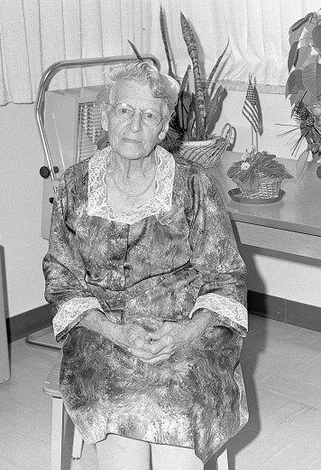 Daisy Booth was honored in 1970 at an open house to celebrate her 90th birthday. See more in excerpt from 50 years ago.