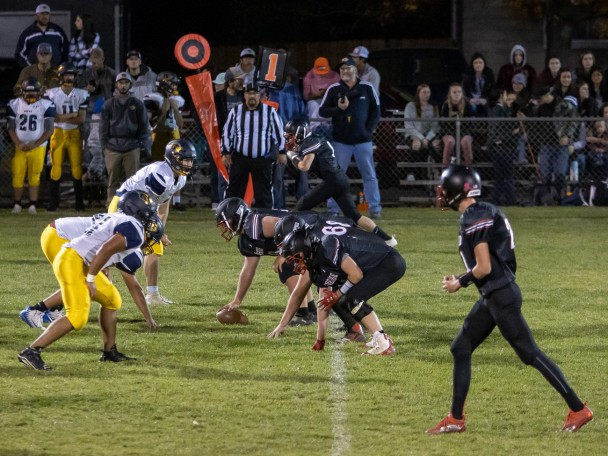 Tammy Keele photo: Friday night lights shined on the Rebels for a homecoming win.