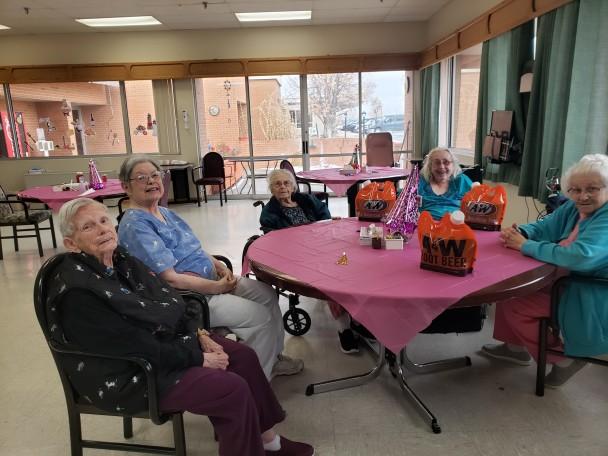 Pictured: Peggy Brenner, Sylvia Elliott, Wanda Bond, Maralyn Wardell and Judy Emmett.