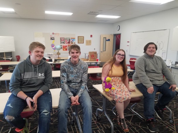 Courtesy photo The Riverside Academic Challenge team (l-r) James Fauver, Dylan Alexander, Kayti Kennedy and Daytona Nielsen.