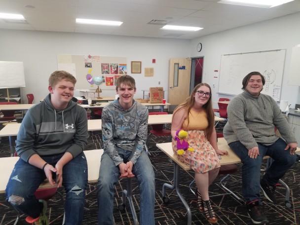 Courtesy photo The Riverside Academic Challenge team (l-r) James Fauver, Dylan Alexander, Kayti Kennedy and Daytona Nielsen.