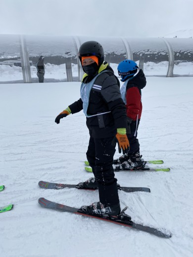 Courtesy Photo Zackary Kuntz was one of several students that got to participate in skiing lessons put on by Antelope Butte.