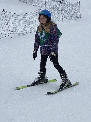 Courtesy Photo Summer Vollan participates in down hill skiing that took place in February.