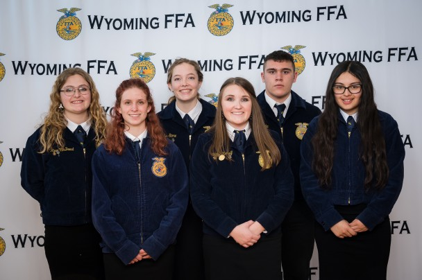 Courtesy Photo Dirt Road Wife Photography The Parlimentary Procedure Team from Paintrock FFA placed 3rd overall. The team pictured are back row (l-r): Kieri VanDeest, Eva Stone, Griffin Zapata, and Valeria DeNiz. Front row: Breana Riley and Dailyn Zierolf.