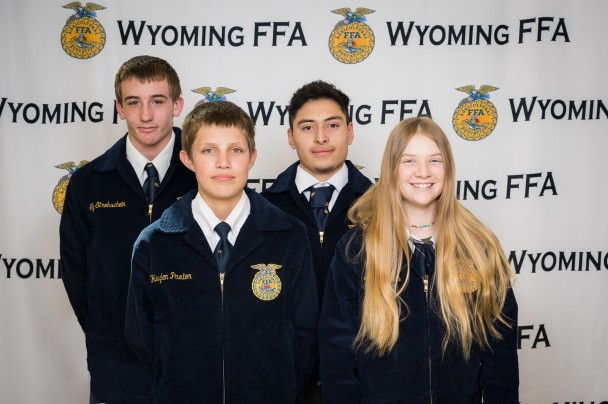 Courtesy Photo Paintrock FFA Members back row (l-r): Ty Strohschein and Oscar Martinez. Front row (l-r): Hayden Paxton and Avery Lewis.