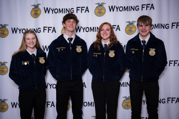 Courtesy Photo Dirt Road Wife Photography The Paintrock FFA Poultry Team consisted of four sophmores (l-r): Avery Lewis, Trenton Coronel, Caroline Schlattmann and Dylan Alexander. The team took third in reasons and fifth overall.