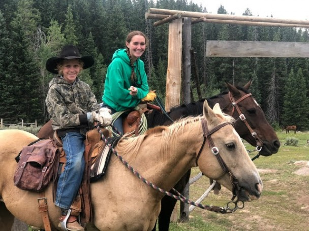 Courtesy photo Stetson and Madison prior to leaving the cabin on Aug. 3.