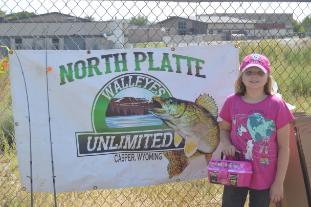 Barbara Anne Greene Ava Wennberg of Otto was one of the winners at the town of Basin fishing day.