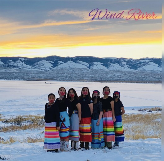 Courtesy photo A group of Indigenous girls from the Wind River Reservation with hand prints on their faces. The hand print is a symbol that is used to indicate solidarity with missing and murdered Indigenous women and girls in North America.
