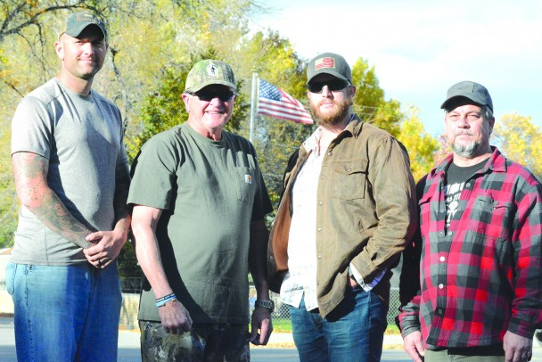 L. to r.: Travis Marshall, Bill Warren, Jeremy and Irvin.