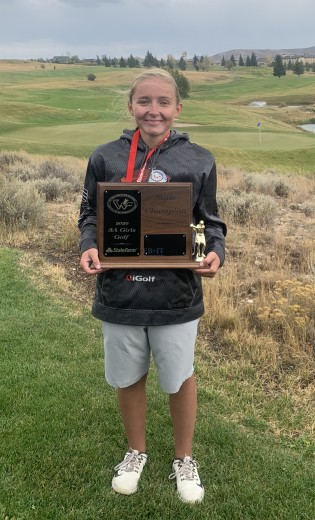 Erika Cook took first place at the State 3A Golf Championships in Evanston.